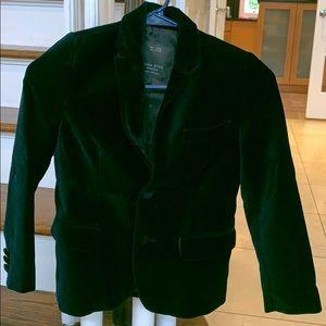 Gently used boys Zara navy velvet  jacket size 7/8